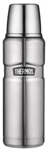 Thermos - King - termos metalowy - kolor stalowy - 0,47l